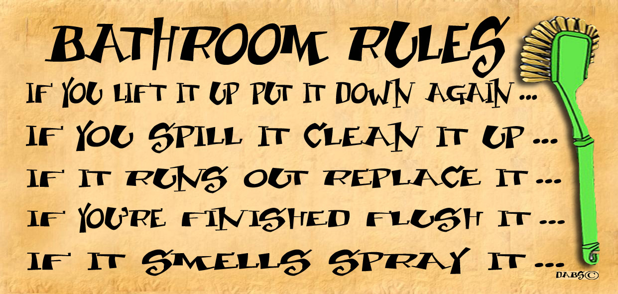 Funny Bathroom Rules Signs all sign selections : gigglewick gifts, funny wooden signs
