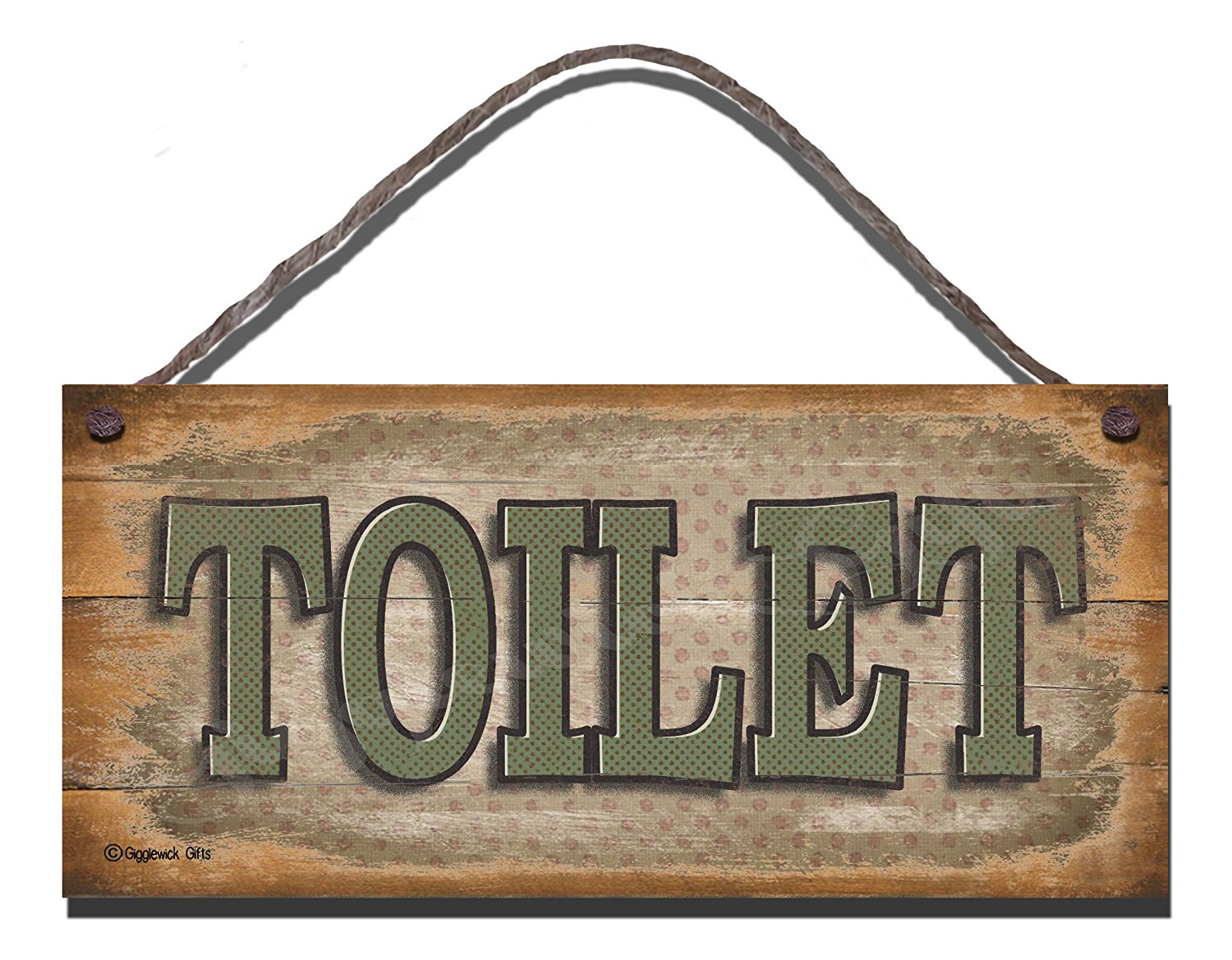 Toilet Sign Rustic
